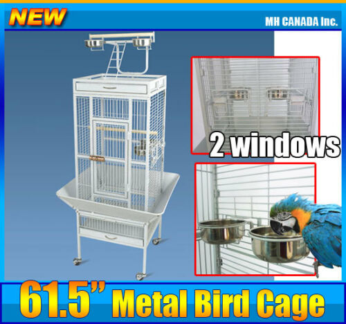 "61.5"" Bird Cage Finches Metal Wire Parrot Decorative House w/ Removable Tray New in Pet Supplies, Bird Supplies, Cages 