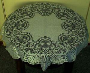 619 spitzen tischdecke rund mint b gelfrei 80 cm gardinenwelt und mehr ebay. Black Bedroom Furniture Sets. Home Design Ideas