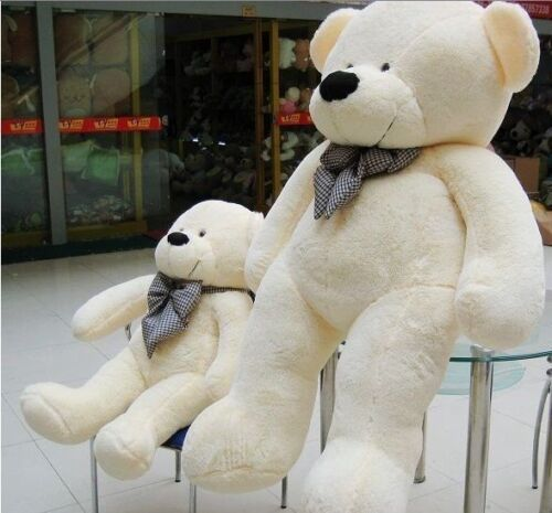 "63"" White color 1.6M 160CM Giant Huge Teddy Bear Cuddly Stuffed Animal Doll in Dolls & Bears, Bears, Other | eBay"