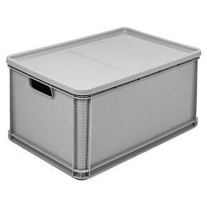 64l stapelbox mit deckel stapelk sten euro box europalette. Black Bedroom Furniture Sets. Home Design Ideas