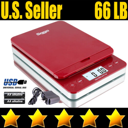 66 LB DIGITAL POSTAL SHIPPING SCALE by SAGA X 0.1 OZ WEIGHT POSTAGE W/AC USB M S in Business & Industrial, Packing & Shipping, Shipping & Postal Scales | eBay