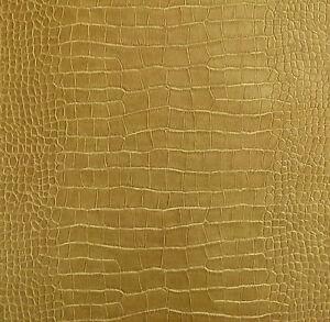 6651 40 1 rolle hochwertige design vlies tapete krokodil lederoptik goldbraun ebay