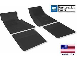 67 69 Camaro Floor Mats Gm Restoration Parts Black Made In