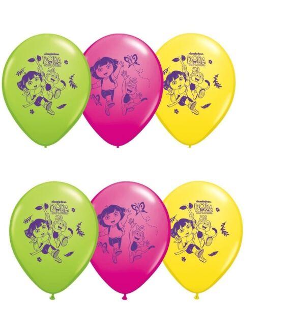 (6ct) Nickelodeon Dora Birthday Latex Balloons Party