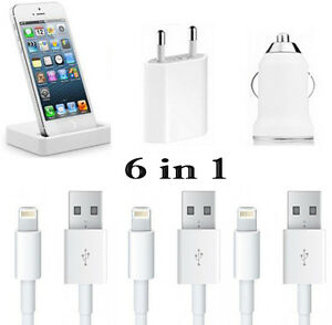 6in1 iphone 5 ladeger t lightning kabel usb auto kfz dockingstation ladestation ebay. Black Bedroom Furniture Sets. Home Design Ideas