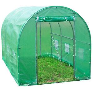 6m gew chshaus mit stahlfundament treibhaus tomatenhaus pflanzenhaus fr hbeet ebay. Black Bedroom Furniture Sets. Home Design Ideas