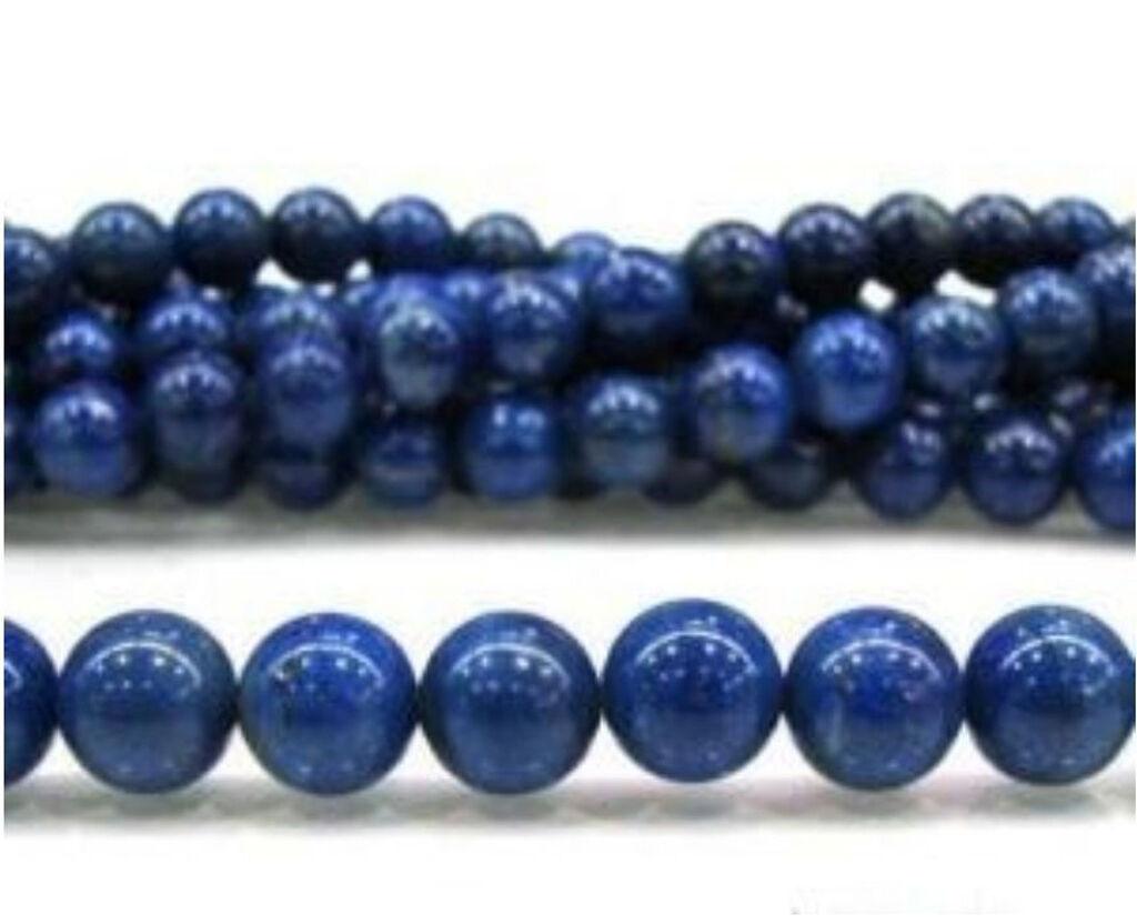 "6MM Blue Round Egyptian Lazuli Lapis Gemstone Loose Beads 15/"""