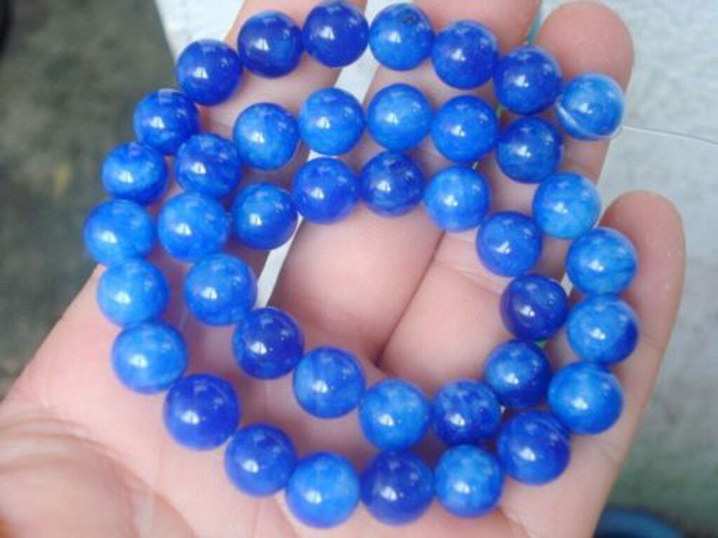"6mm Round light sapphire Glass Beads 15/"" Loose Strand"
