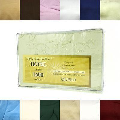 6pc Bed Sheet Set Flat Fitted Deep Pocket Fits Mattress Queen Full 4 Pillowcases in Home & Garden, Bedding, Sheets & Pillowcases | eBay