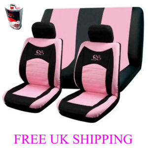 6pc Car Seat Covers Set Universal Cover RS Girl Racing