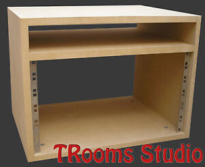 6u Rack Cabinet With Shelf Recording Studio Furniture Ebay