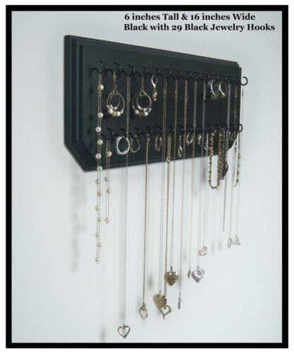 6x16-Black 29-Black, Jewelry Organizer, Necklace Holder, Hanging Wall Display in Jewelry & Watches, Jewelry Boxes & Organizers, Jewelry Holders & Organizers | eBay