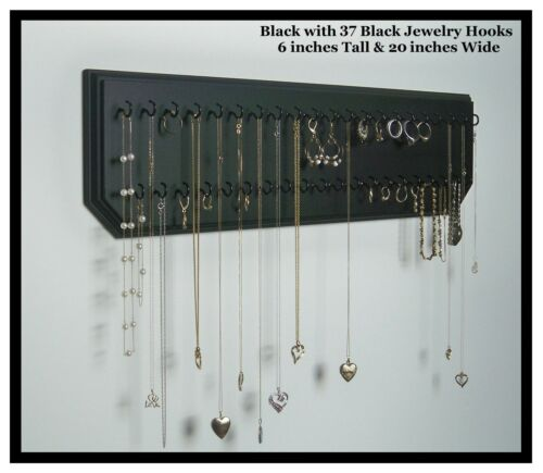 6x20-Black 37-Black, Jewelry Organizer Necklace Holder Wall Hanging Ring Display in Jewelry & Watches, Jewelry Boxes & Organizers, Jewelry Holders & Organizers | eBay
