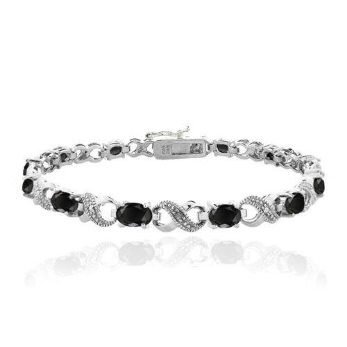 7.2 CT Genuine Sapphire & Diamond Infinity Bracelet
