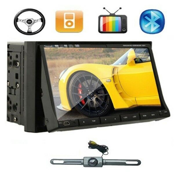 "7"" 2 DIN Car DVD Player Radio iPod TV A2DP Call None GPS Head Unit Backup Camera"