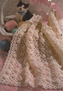 Baby-Blankets-Adorable-Infant-Throws-Afghans-Crochet-Pattern-Booklet