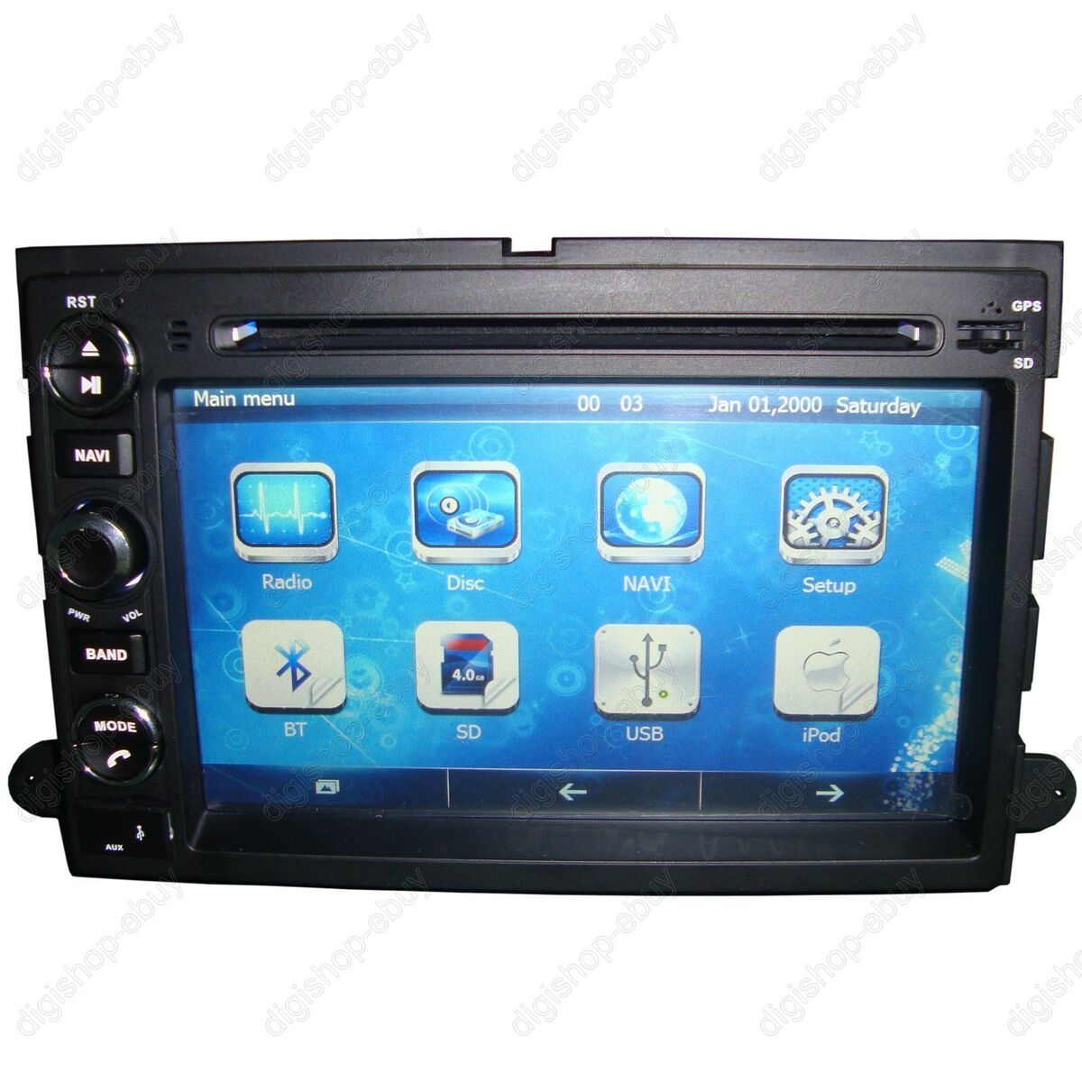 """7"""" Car GPS DVD Player Navigation for Ford F150 2004 2008 Free 3D GPS Maps"""