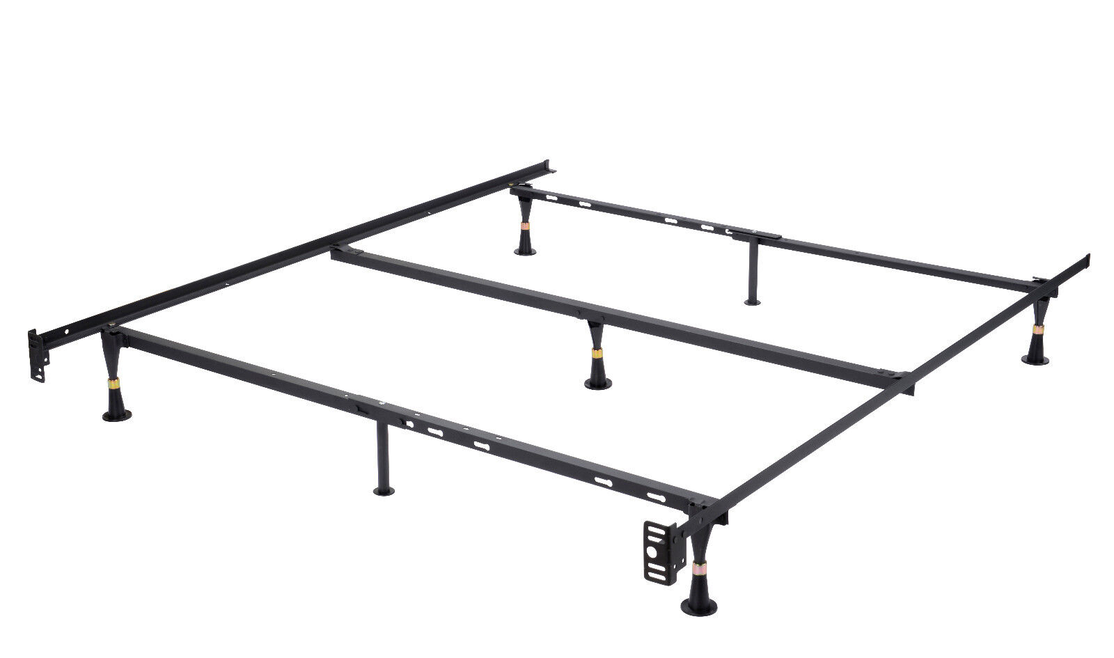 Steel Bed Frames Queen Metal Bed Frames Queen Size Extra: 7-Leg Heavy Duty Metal Queen Size Bed Frame With Center