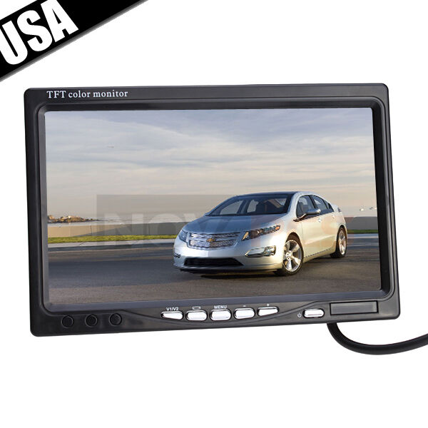"""7"""" TFT LCD Color Car Rearview Headrest 16 9 Monitor DVD VCR with IR Remote"""