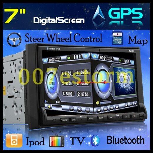Touchscreen Double DIN Car DVD Player GPS SAT Nav RDS