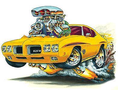 Judge Custome Art Wall Graphic Cartoon Car Turbo Fire Vinyl Art