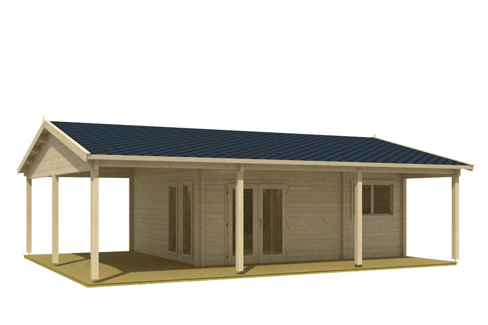 70 mm ferienhaus ceylon 760x560cm terrasse gartenhaus. Black Bedroom Furniture Sets. Home Design Ideas