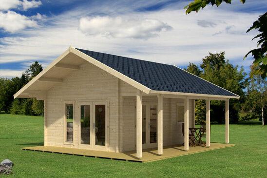 70 mm ferienhaus 450x580 cm terrasse gartenhaus blockhaus holzhaus holz neu ebay. Black Bedroom Furniture Sets. Home Design Ideas