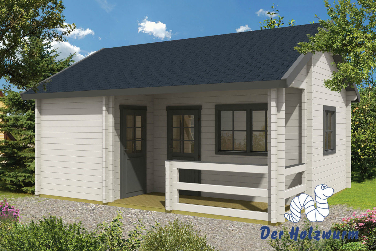 70 mm gartenhaus 600x510cm blockhaus ferienhaus holzhaus holz h tte b ro ebay. Black Bedroom Furniture Sets. Home Design Ideas