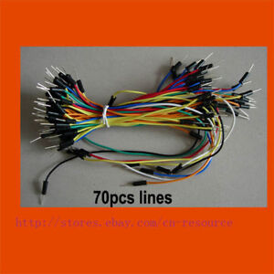 70 x mixed color solderless breadboard JUMP WIRES
