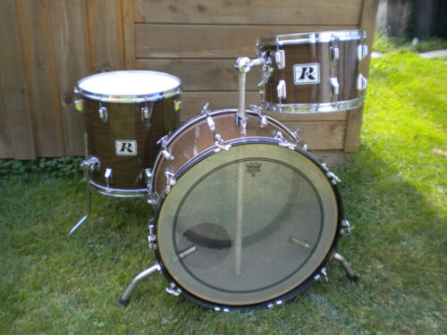 """70's ROGERS DRUM KIT. """"NEW MAHOGANY"""" 24,13,16. 3PLY W/RERINGS in Musical Instruments & Gear, Percussion, Drums 
