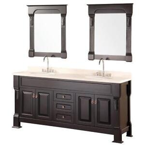 72 espresso double sink transitional bathroom vanity