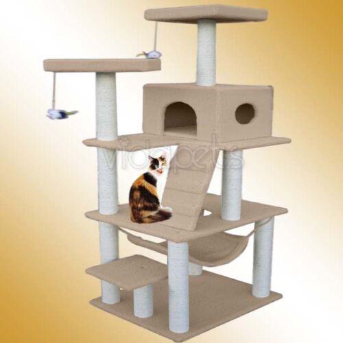 "72"" Light Brown Cat Tree Condo Furniture Scratch Post Pet House in Pet Supplies, Cat Supplies, Furniture & Scratchers   eBay"