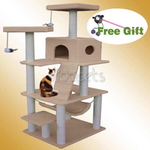 "72"" Light Brown Cat Tree Condo Furniture Scratch Post Pet House in Pet Supplies, Cat Supplies, Furniture & Scratchers 
