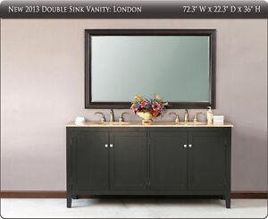 Bathroom Vanities on On 72 Transitional Double Sink Bathroom Vanity Cabinet Travertine Top