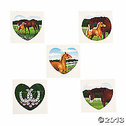 Tatto Games on Horse Tattoos Birthday Favors Games Cowgirl Western Theme Games   Ebay