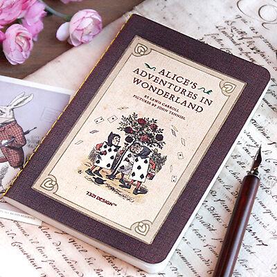 7321 Alice in Wonderland Stitch Blank Notebook plain paper journal lewis carroll in Books, Accessories, Blank Diaries & Journals | eBay