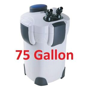 75 gallon external aquarium filter with builtin pump kit