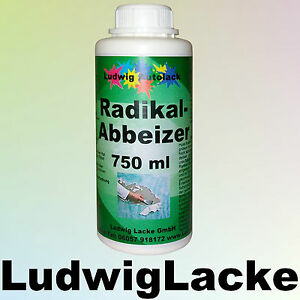 750 ml radikal abbeizer abbeizmittel fuer autolack grafitti usw gp1liter 19 92. Black Bedroom Furniture Sets. Home Design Ideas
