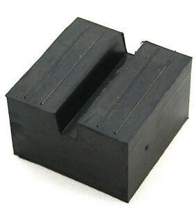 75x75x50mm-Nut-Gummiauflage-Gummiklotz-Hebebuehne-Wagenheber-Gummiauflagen