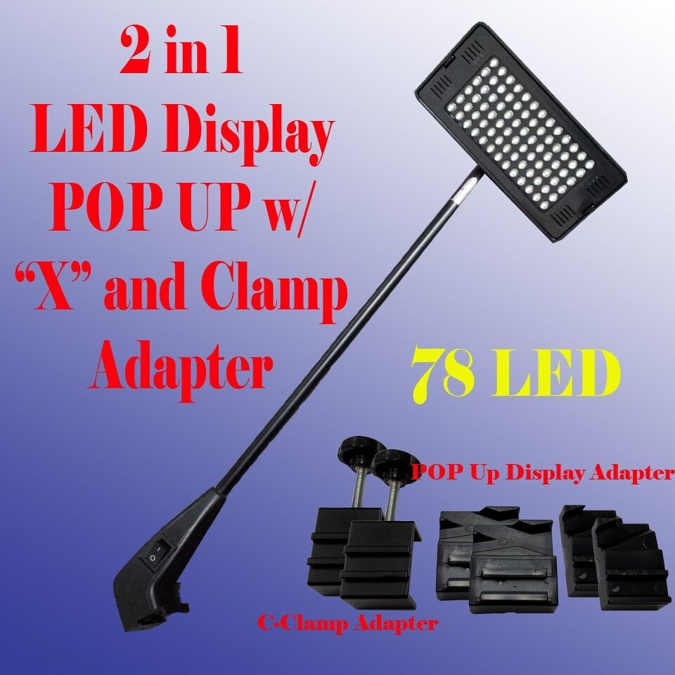 Porch Light Dsm: 78 LED Display Light POP UP Tension Booth Panel X And