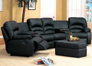 Stupendous Sectional Couch Special Offers 7Pc Home Theater Black Caraccident5 Cool Chair Designs And Ideas Caraccident5Info
