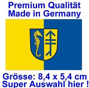 8-4x5-4cm-PREMIUM-Aufkleber-Fahne-Hiddensee-Autoaufkleber-Sticker-Auto-Styling