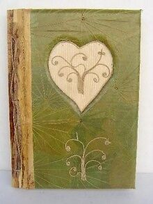 8.5' x 10''' Handmade Bamboo Paper Photo Album - Heart Pattern in Books, Accessories, Blank Diaries & Journals | eBay