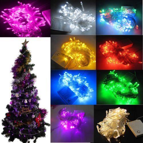 8-5M-100-LED-Lichterkette-Weihnachtsbeleuchtung-Deko-Lichternetz-Aussen-9Farbe
