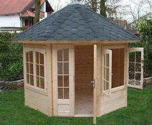 8 eck pavillon sosua 300 2 laube 3 10 m gartenhaus zum. Black Bedroom Furniture Sets. Home Design Ideas