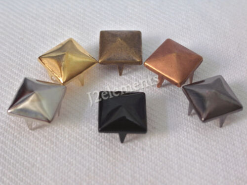 8 mm Pyramid Studs Rock Design spikes spots Leathercraft Home DIY in 5 colour in Crafts, Home Arts & Crafts, Leathercraft | eBay