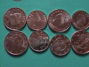 8-seltene-cent-Muenzen-Finnland-Luxemburg-Zypern-Slowenien