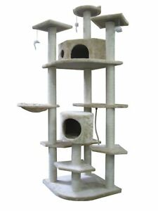 "80"" CAT TREE CONDO FURNITURE SCRATCHPOST PET HOUSE 5238 in Pet Supplies, Cat Supplies, Furniture & Scratchers 