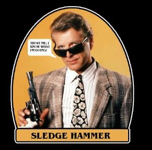 80s classic tv show sledge hammer quottrust mequot custom tee