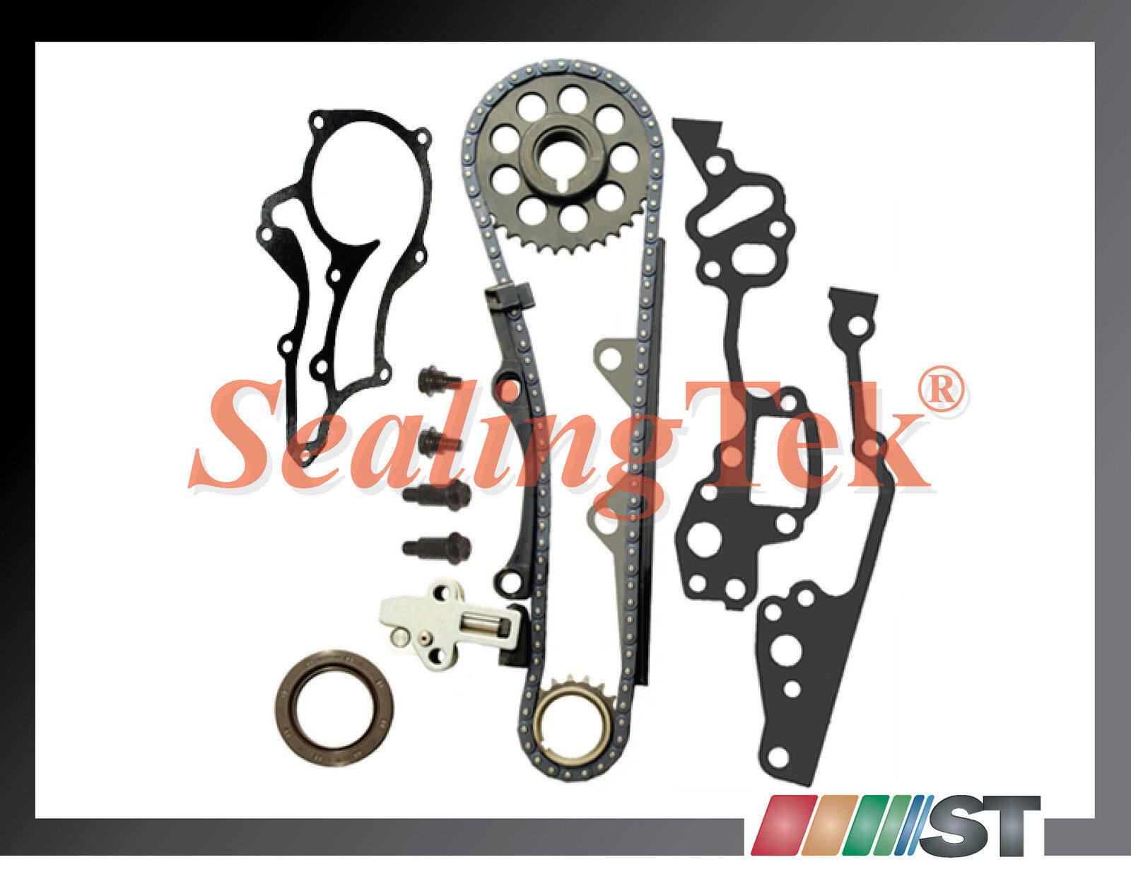 Fit 8595 Toyota    22R    22RE Timing Chain Kit w STEEL GUIDE